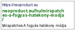 https://neoproduct.eu/hu/mirapatches-a-fogyas-hatekony-modja/
